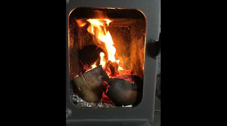 Warm, cosy woodburner