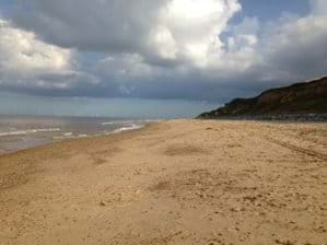Unspoilt beach just 5 minutes walk from the chalet