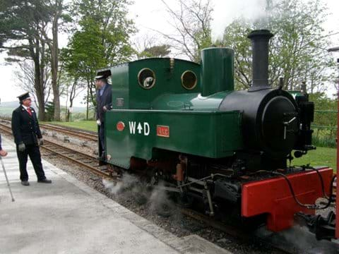 A tank engine on the Barnstaple-Lynton Steam Railway