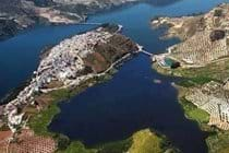 Aerial view of Iznajar