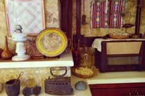 Part of the exquisite display of antiques in the parlour mini museum
