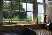 Countryside views from The Hayloft kitchen