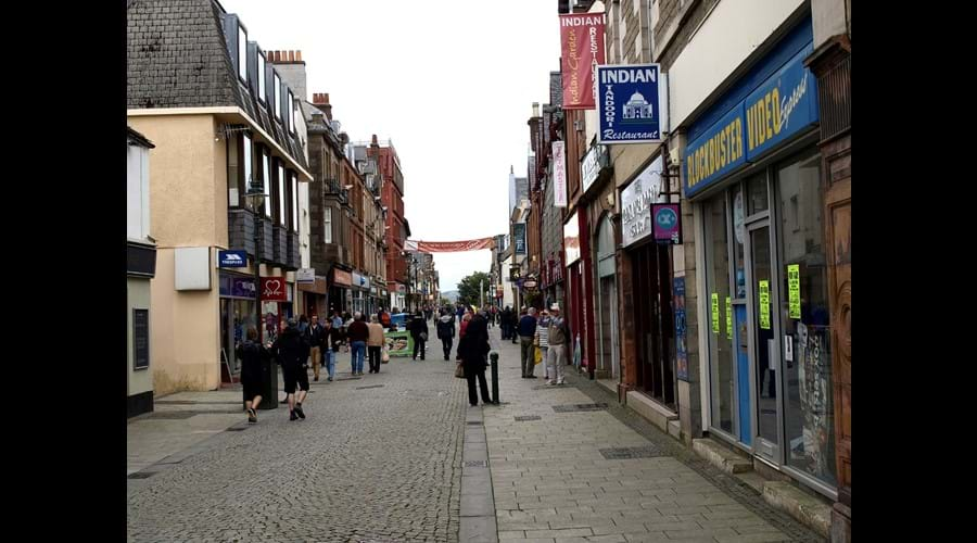 Fort William High Street a few minutes from the self catering accommodation