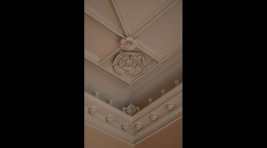 A detail of the decorative plaster work in the sitting room.