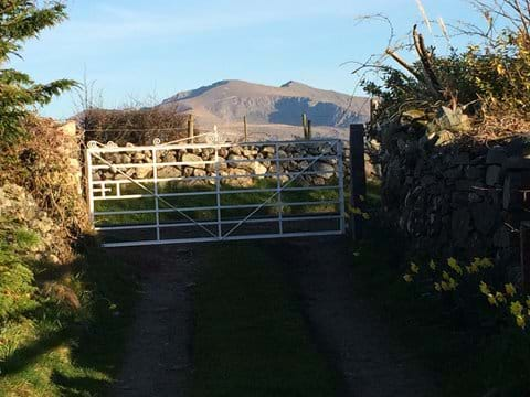 The view of Snowdon as you leave Coch Hir