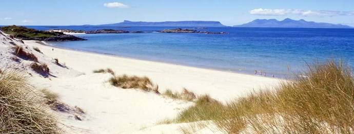 Beaches with views to Rhum and Eigg