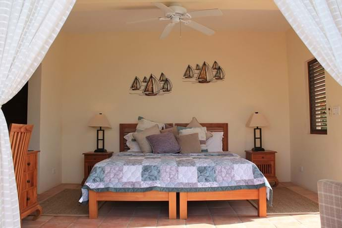 Bedroom Two can be a King Bed or Twins or even add another single bed for a 7th guest.