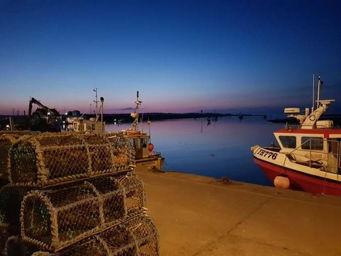 Wells Harbour at dusk