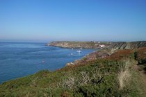 On the coast path to St Justinian.