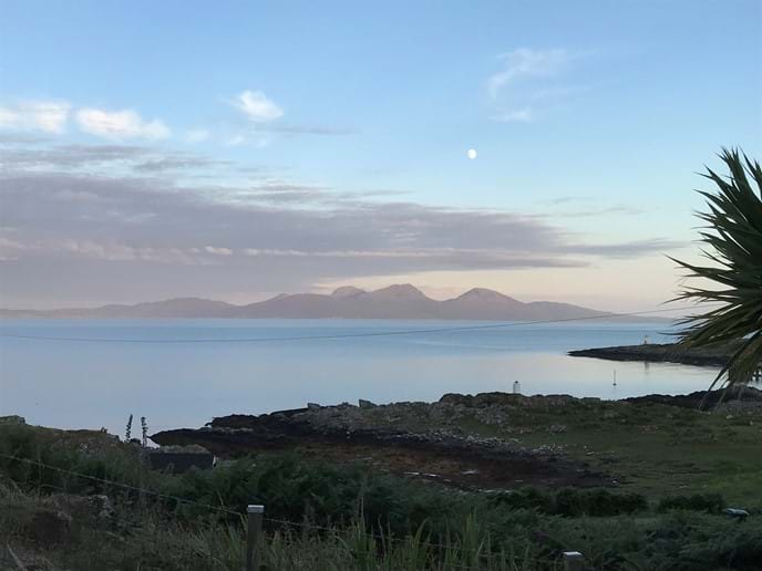 View from Glebe of the Paps of Jura