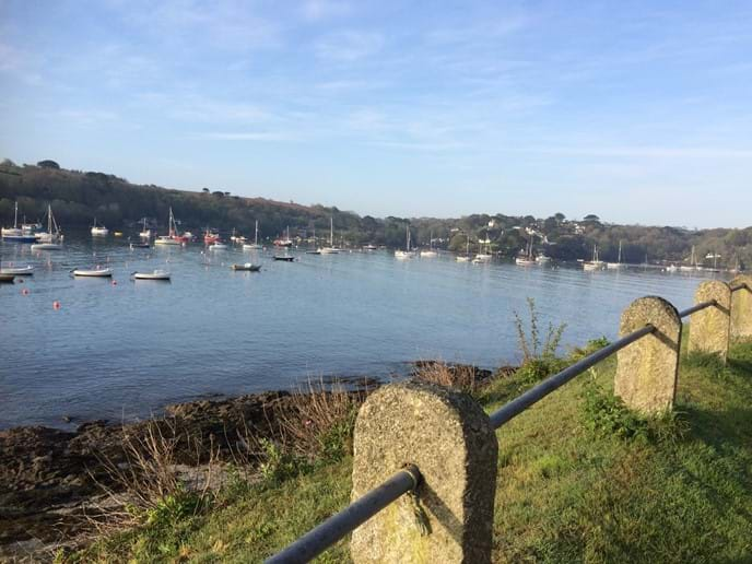 Looking across the river to Helford village