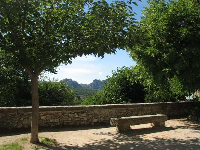 Les Alpilles from Eygalieres