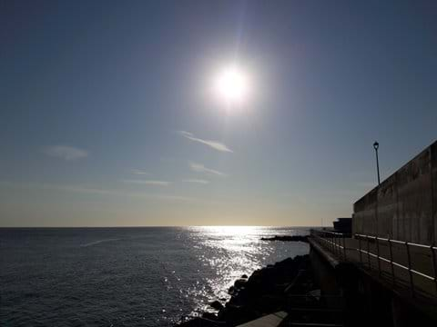 Sun rise over Sheringham sea front