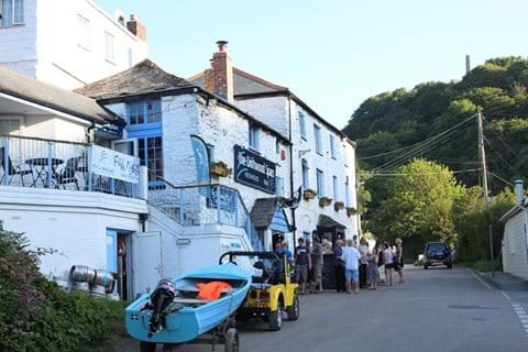 The Driftwood Spars Pub en route back from the beach