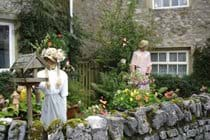 Scarecrow display in local garden