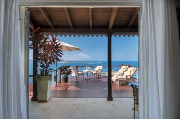 from St Bernards Hill House... plenty of open decking to enjoy the Caribbean breeze!