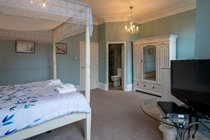 1st floor Master Bedroom with Superking 4 poster and ensuite shower room