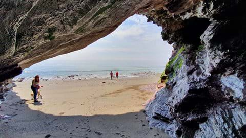 Exploring Downderry beach