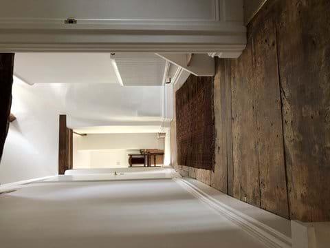 Original Elm floorboards along corridor upstairs