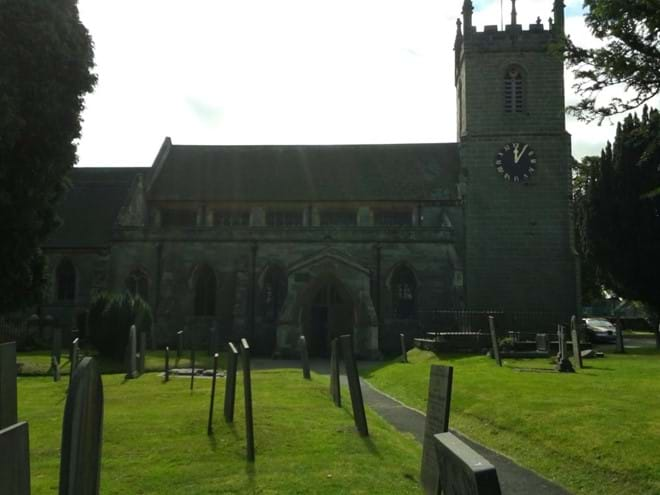 Another view of Yoxall church