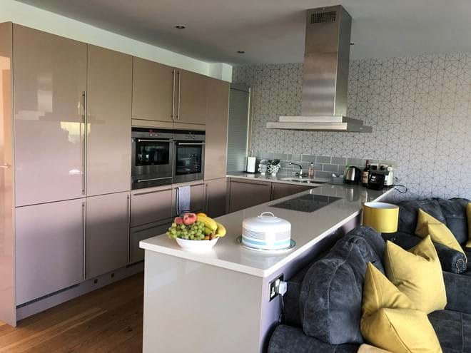 Contemporary kitchen kitted out with everything you think of to make your stay easy if you are self-catering