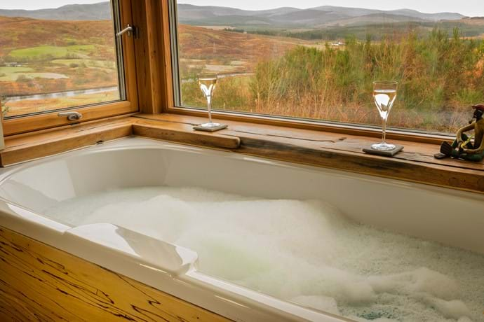 Bath with a view, master bedroom