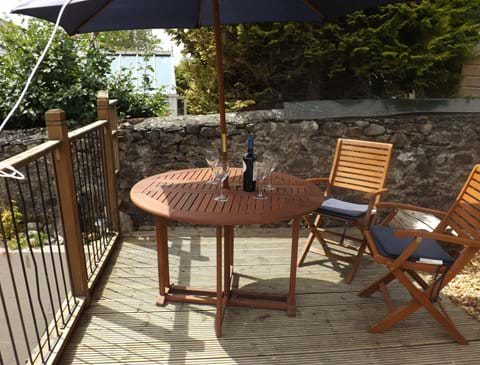 Outdoor dining, or just enjoy a glass of wine on the upper mezzanine