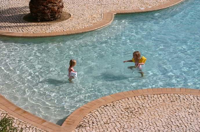 Grandchildren in the pool