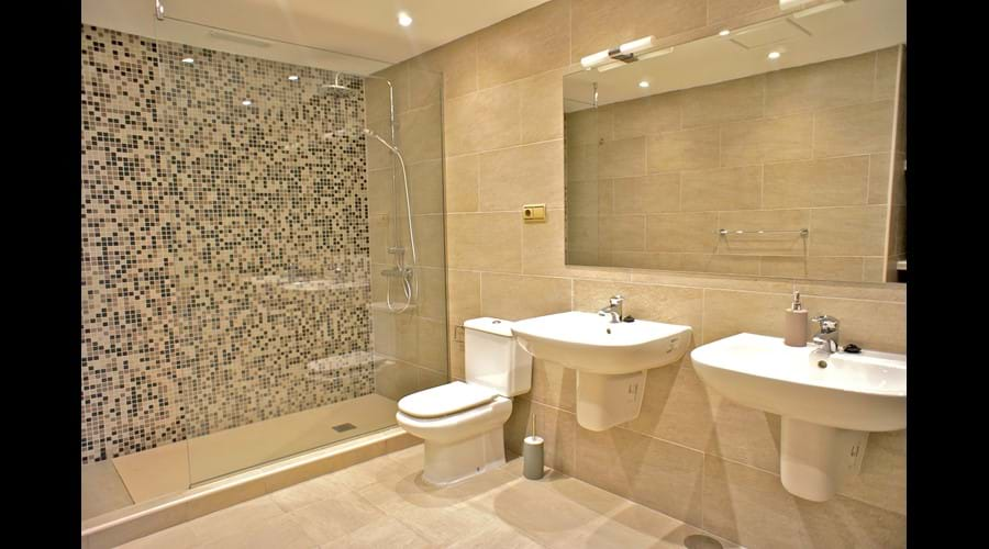 Main bathroom, accross from bedrooms 2,3,4