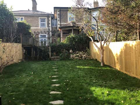 Middle section of the garden for kids and dogs to play