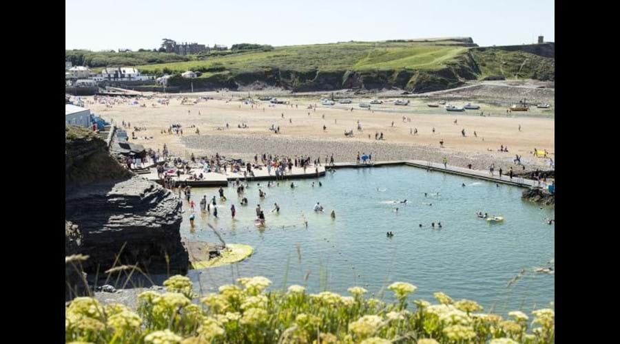 Summerleaze beach with swimming pool