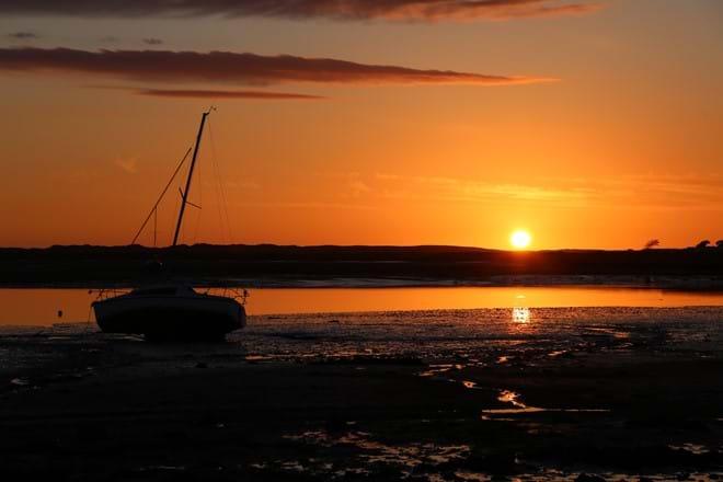 Sunset at Ravenglass