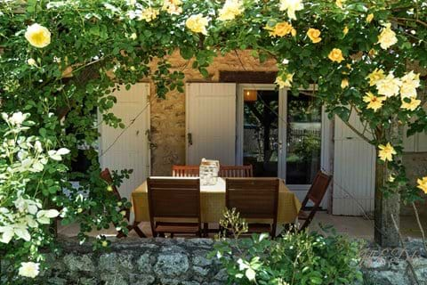 Rose covered veranda