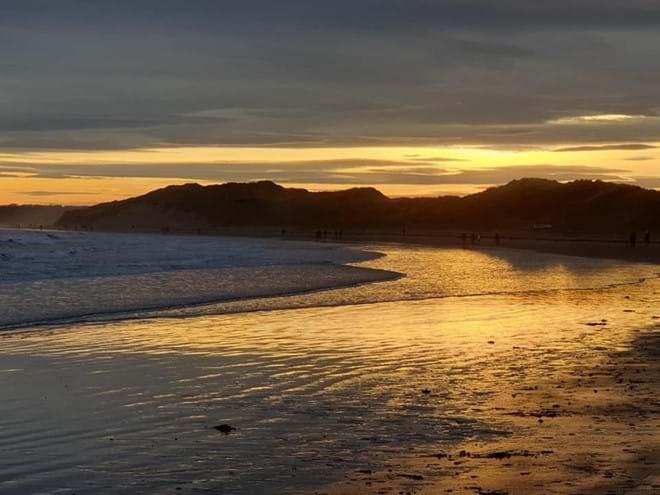 Sunset over Beadnell Bay