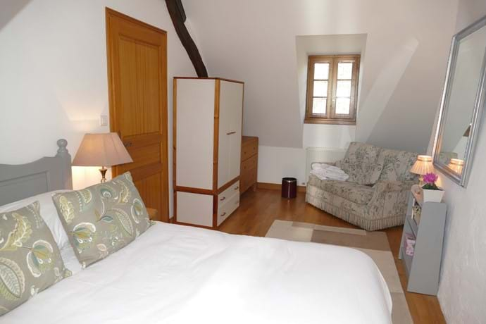 Bedroom Four is on the second floor and has one double and one single bed