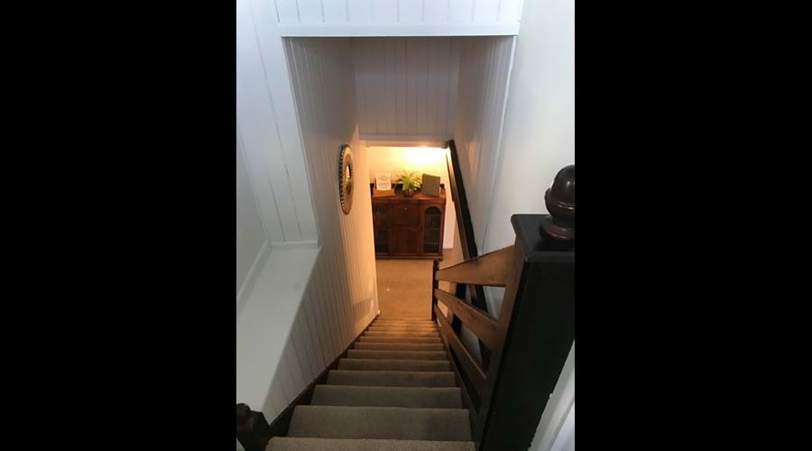 Staircase for upstairs double bedroom
