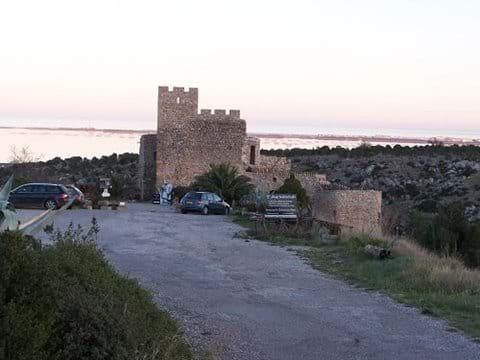 Chateau Fitou above village