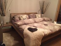 Extra large double bed