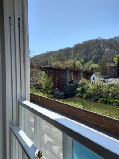 Wonderful view of the Iron Bridge from the lounge
