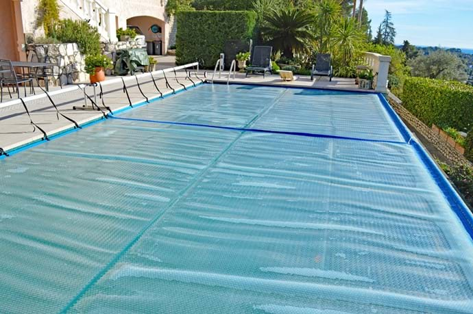 November 2019 - Pool Warmers for Winter Swimming!  Covers are pulled over the Pool overnight, enabling a blissful warm temperature by day of 28°C - 30°C from November to March each year.