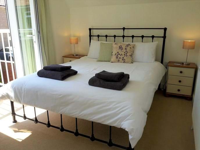 Master bedroom with juliet balcony