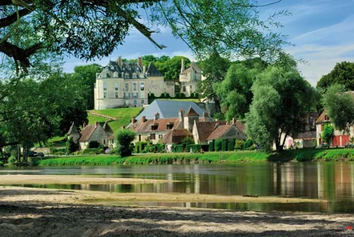 The beautiful village of Apremont sur Allier