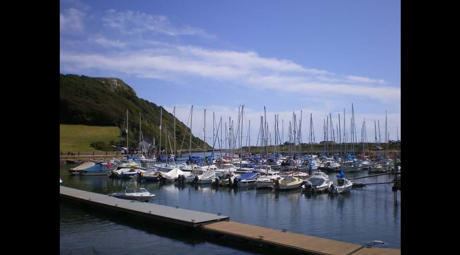 Axmouth harbour and Haven cliff, East Devon