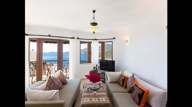 Lounge with Balcony and Sea Views