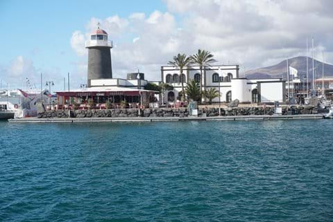 Marina Rubicon with bars, restaurants and shopping center