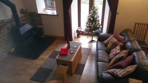 Christmas by the cosy wood burning stove