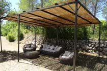 The shaded terrace