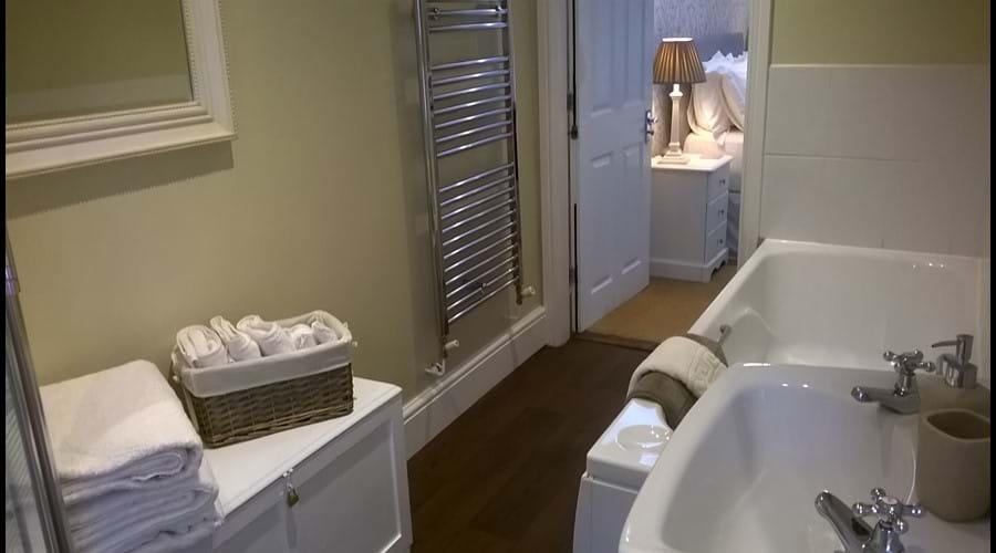 BATHROOM - BATH & STANDALONE CORNER SHOWER