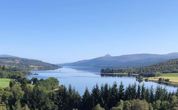 Looking west along Loch Rannoch towards the village.