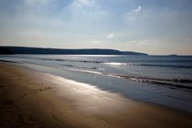 Broad Haven Beach Pembrokeshire, a tour of Pembrokeshire makes a great day trip.